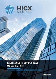 Excellence In Supply Base Management