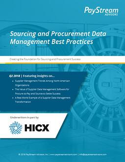Sourcing and Procurement Data Management front page